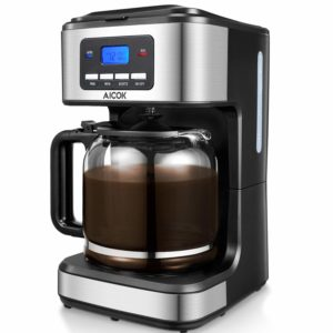 Aicok Coffee Maker, 12 Cups Programmable Drip Coffee Maker
