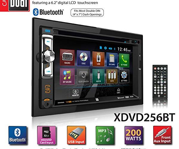 """Dual XDVD256BT Digital Multimedia 6.2"""" LED Backlit LCD Touchscreen Double DIN Car Stereo with Built-in Bluetooth"""