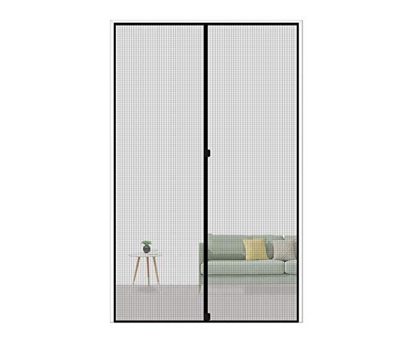 MAGZO Magnetic Screen Door 28 x 72, Reinforced Fiberglass Mesh Curtain Patio Door