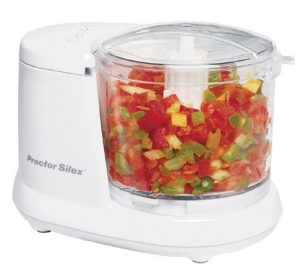 Proctor Silex 72500RY Durable Mini Food and Vegetable Chopper 1.5 Cup White