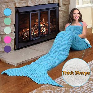 Catalonia mermaid tail blanket