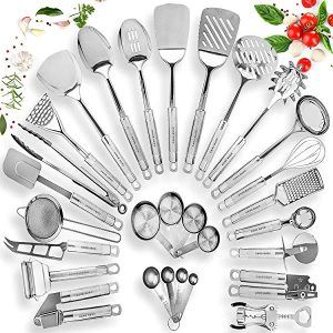 HomeHero Stainless Steel Kitchen Utensil Set – Best Stainless Steel Kitchen Utensil Set