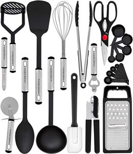 Home Hero Kitchen Utensil Set - 23 Nylon Cooking Utensils