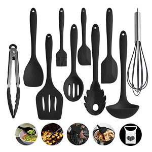 Kitchen Utensil Set, Silicone Heat-Resistant Non-Stick Kitchen Utensils Cooking Tools