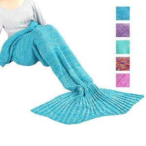 Maxchange Mermaid Blanket, Handmade High Density Crochet Mermaid Tail Blanket,Recommend Adult Size for Who is Over 5 Feet