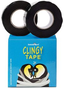 20 ft long Waterproofing Repair Tape, Rubber Silicone Seal Plumbers Self Fusing Rubberized Leak Tape 950 PSI By SolutioNerd