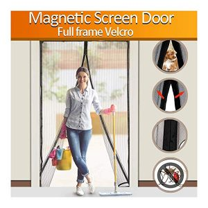 FYLINA Magnetic Screen Door Heavy Duty Mesh Curtain Screen and Full Frame Velcro