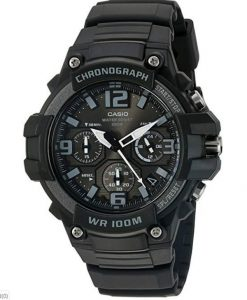 Casio Men's Heavy Duty Chronograph Stainless Steel Quartz Watch with Resin Strap