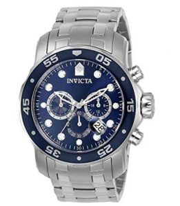 Invicta Men's 0070 Pro Diver Collection Analog Chinese Quartz Chronograh Silver-Tone